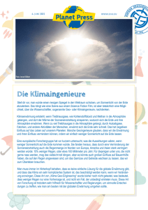 Die Klimaingenieure - European Geosciences Union