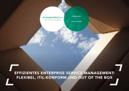 effizientes enterprise service management: flexibel, itil