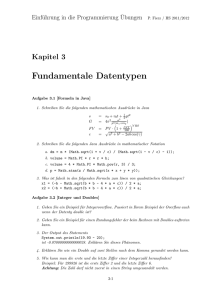 Fundamentale Datentypen - BFH