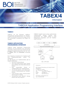 TABEX/4 Application Programming Interface