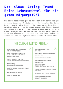 Der Clean Eating Trend – Reine Lebensmittel