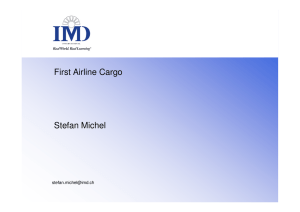 Fallstudie First Airline Cargo