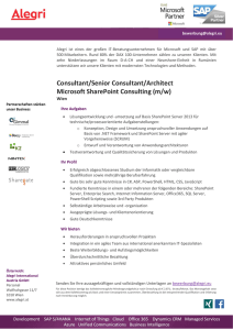 (Senior) Consultant Microsoft SharePoint A