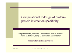 Computational redesign of protein