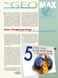Geo-Engineering - Max-Planck