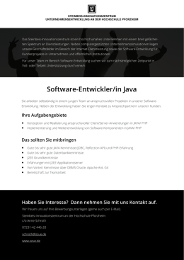 Software-Entwickler/in Java - Steinbeis