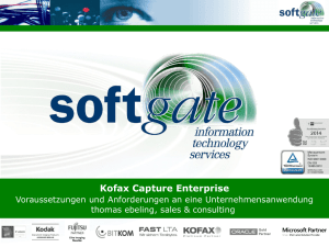 Kofax Capture Enterprise - softgate