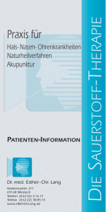 Sauerstoff-Therapie - HNO Praxis Dr. Lang