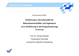 Anweisung - Chair 11: ALGORITHM ENGINEERING