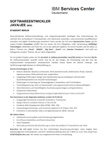 softwareentwickler java/jee (m/w)