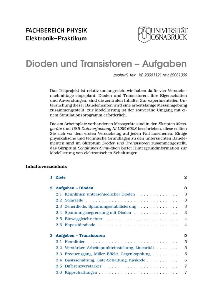 Niedlich Grundlagen Der Elektrischen Schaltung Bilder - Elektrische ...