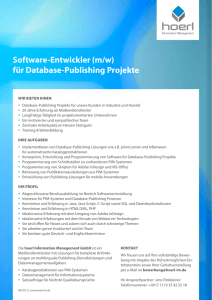 Software-Entwickler (m/w) für Database-Publishing Projekte