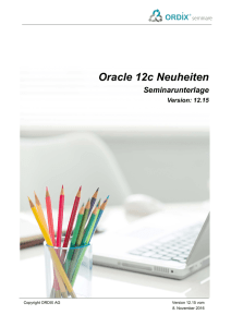 Oracle 12c Neuheiten