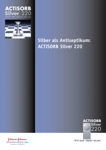 Silber als Antiseptikum: ACTISORB Silver 220