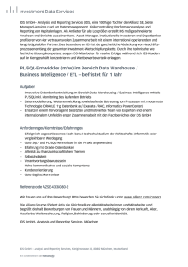 PL/SQL-Entwickler (m/w) im Bereich Data Warehouse / Business
