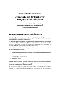 Booklet - Zwangsarbeit in Hamburg