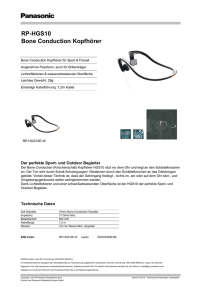 RP-HGS10 Bone Conduction Kopfhörer