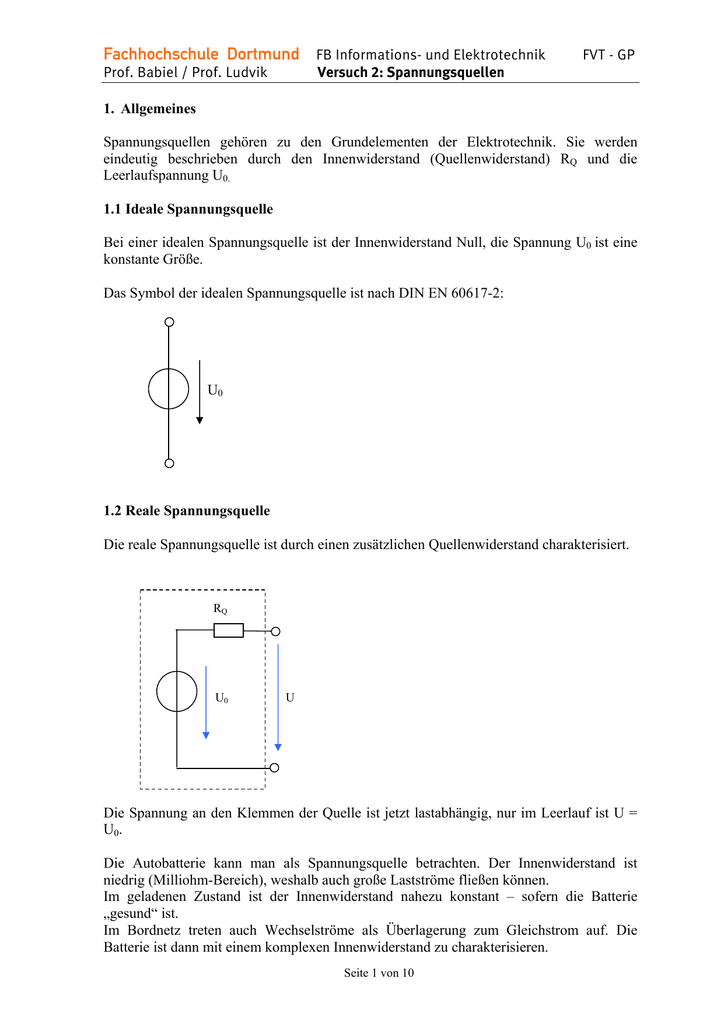 Versuch2 FVT SS Spannungsquellen