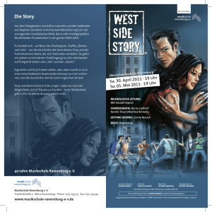Flyer West Side Story Ravensburg