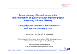 Tumor staging of breast cancer after implementation of quality