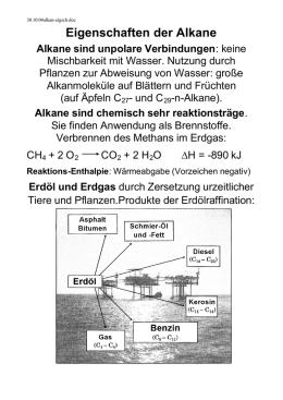 Kohlenstoff als Bindungspartner in Alkanen, Alkenen und Alkinen