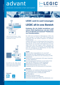 LEGIC card-in-card Lösungen LEGIC all-in