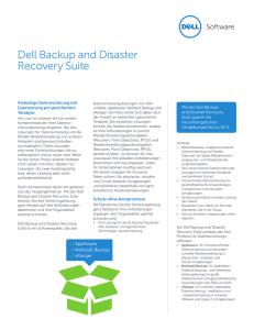Dell Backup and Disaster Recovery Suite