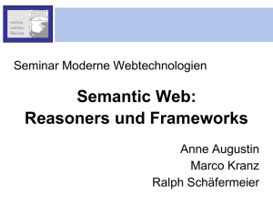 Semantic Web: Reasoners und Frameworks