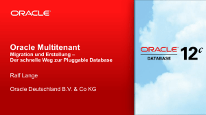Oracle Multitenant: Migration und Erstellung