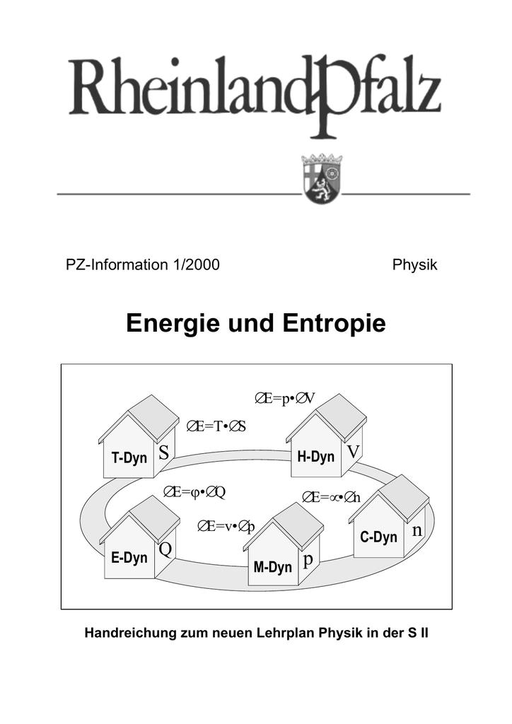 Fine Entropie Und Freie Energie Arbeitsblatt Antworten Vignette ...
