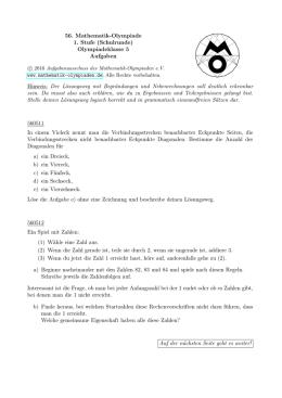 1. - 34. Olympiade - Klasse 5 Aufgaben