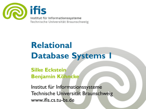 Relational Database Systems 1