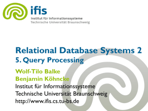 Relational Database Systems 2 - IfIS