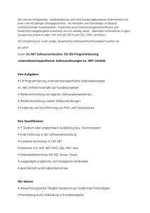 C#/.NET Softwareentwickler (m/w)