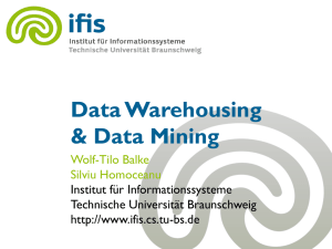 Data Warehousing with OLAP - IfIS