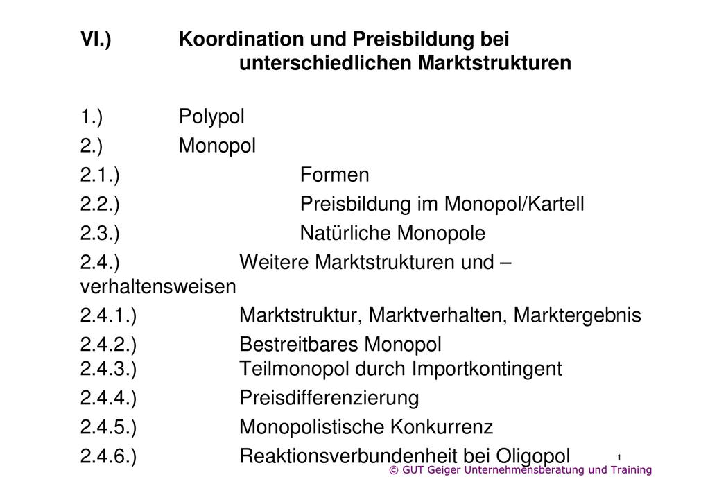 preis absatz funktion polypol
