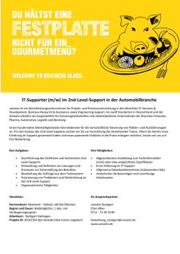 IT-Supporter (m/w) im 2nd-Level-Support in der Automobilbranche
