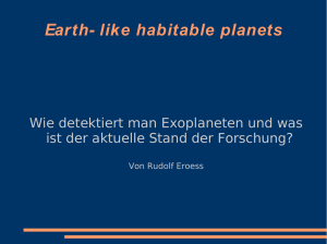 Earth- like habitable planets