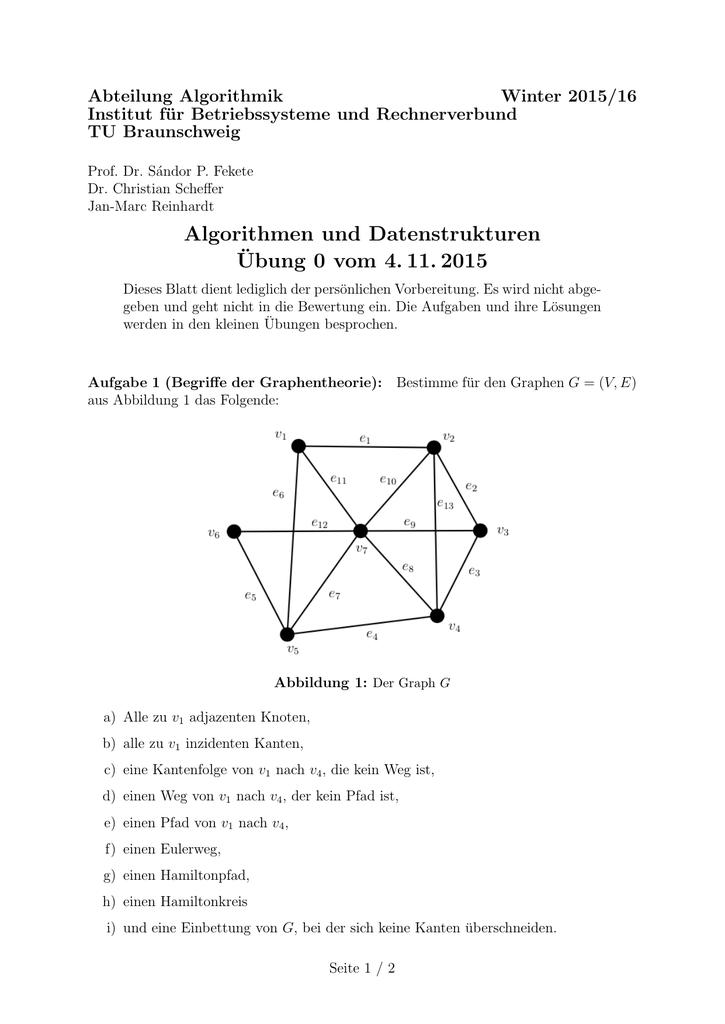 tu bs algorithmen und datenstrukturen