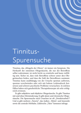 Tinnitus- Spurensuche - Median