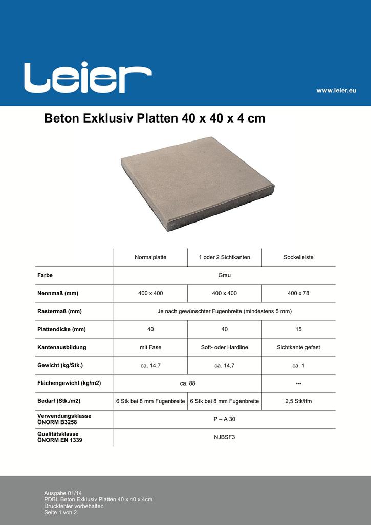 Beton Exklusiv Platten X X Cm - Verlegearten platten