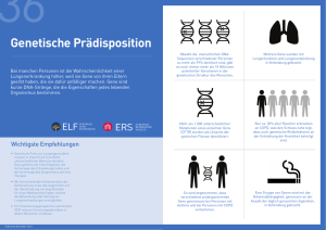 Genetische Prädisposition - European Lung Foundation