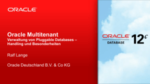 Oracle Multitenant