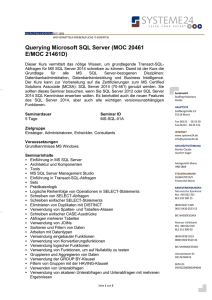 Querying Microsoft SQL Server - Systeme24 Staffing+Solutions GmbH