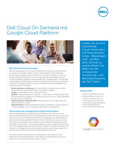 Dell Cloud On Demand mit Google Cloud Platform