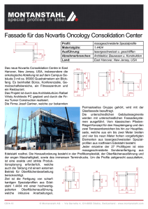 Fassade für das Novartis Oncology Consolidation