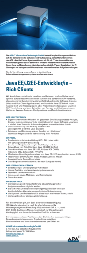 Java EE/J2EE-Entwickler/in – Rich Clients