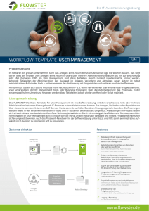 WORKFLOW-TEMPLATE USER MANAGEMENT