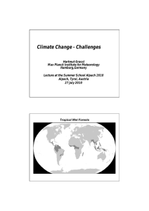 Climate Change - Challenges