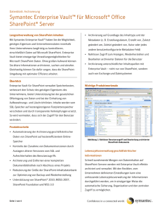 Symantec Enterprise Vault™ für Microsoft® Office SharePoint® Server